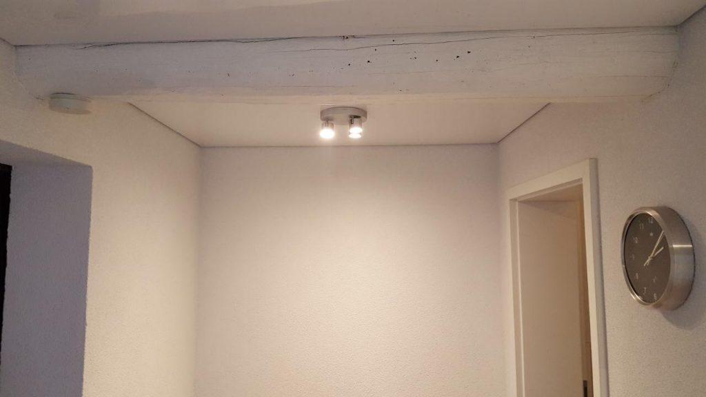 Dachluke flächenbündig in Spanndecke integriert - Oberhausen