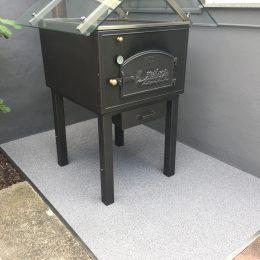 Terrassenbeschichtung mit Colorit Quarz in grau weiß schwarz