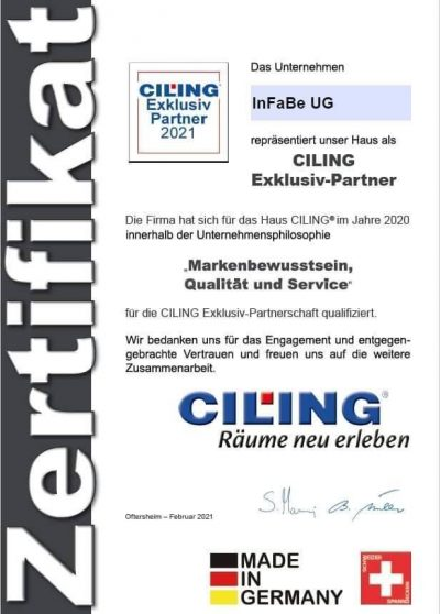 Ciling-Spanndecken-Exklusiv-Partner-2021-Infabe-Zertifikat